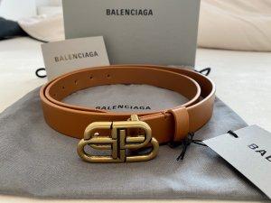Balenciaga Leather Belt cognac-coloured leather