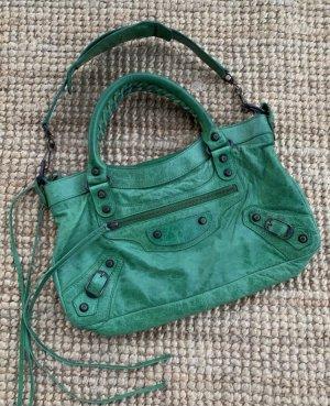 Balenciaga Shoulder Bag green leather