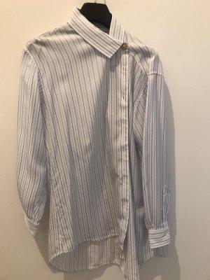 Balenciaga Chemise à manches longues blanc-bleu