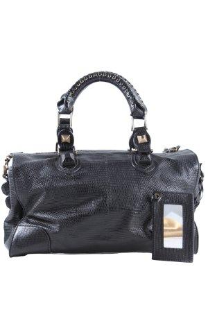 Balenciaga Sac Baril noir motif abstrait style décontracté