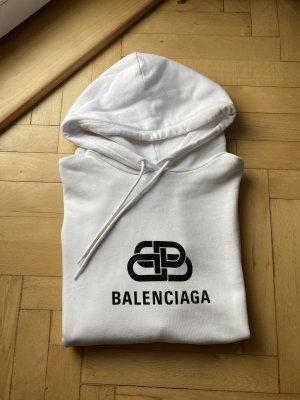 Balenciaga Sweat à capuche blanc-noir