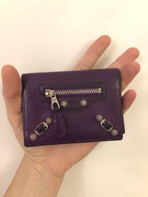 Balenciaga Wallet purple leather
