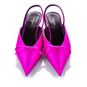 Balenciaga Sandales à talons hauts rosé viscose