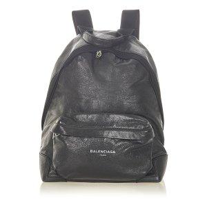 Balenciaga Backpack black leather