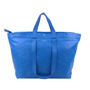 Balenciaga Sac de voyage bleu cuir