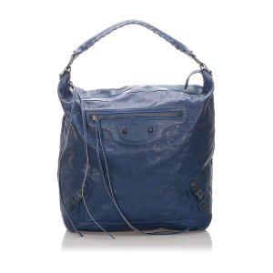 Balenciaga Schoudertas blauw Leer