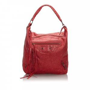 Balenciaga Shoulder Bag red leather