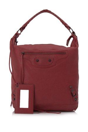 Balenciaga Sac porté épaule rouge cuir