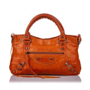 Balenciaga Satchel orange leather