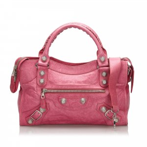 Balenciaga Leather Motocross Giant City Satchel