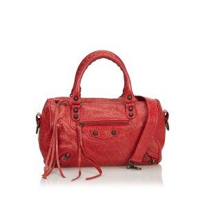 Balenciaga Sacoche rouge cuir