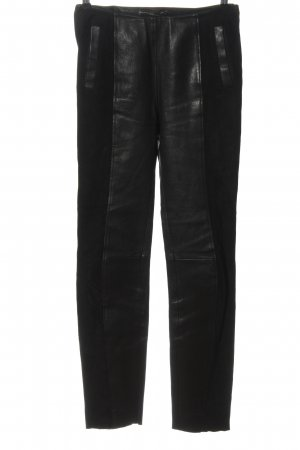 Balenciaga Leather Trousers black casual look