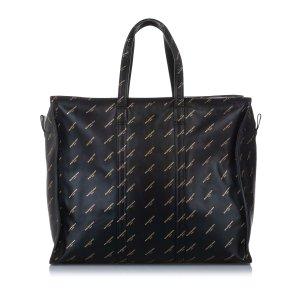 Balenciaga Sac fourre-tout noir cuir