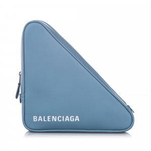 Balenciaga M Triangle Leather Pochette
