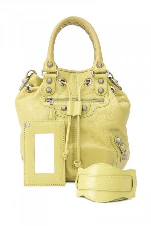 Balenciaga Sacoche jaune cuir