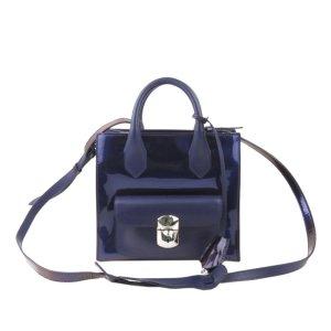 Balenciaga Mini Padlock All Afternoon Patent Leather Satchel