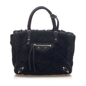 Balenciaga Satchel black fur