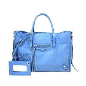 Balenciaga Tornister jasnoniebieski Skóra