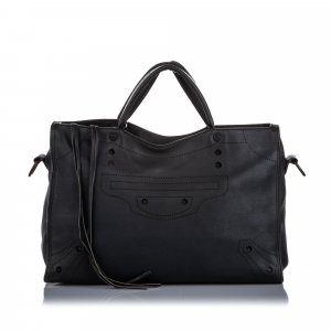 Balenciaga Motocross Blackout City Satchel