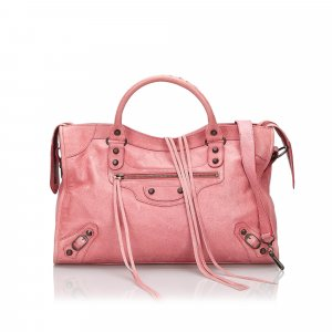 Balenciaga Cartella rosa pallido Pelle