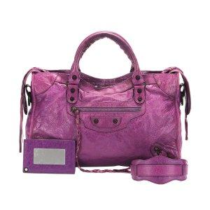 Balenciaga Satchel purple leather
