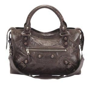Balenciaga Satchel dark brown leather