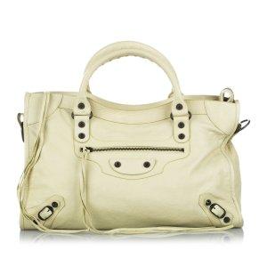Balenciaga Satchel white leather