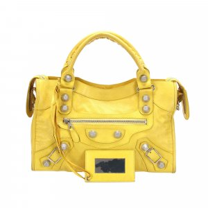 Balenciaga Satchel yellow leather