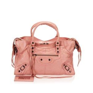 Balenciaga Mochila de colegio rosa Cuero