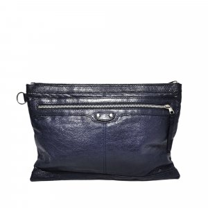 Balenciaga Borsa clutch blu Pelle