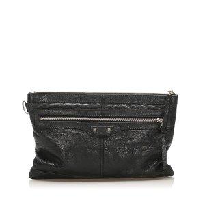 Balenciaga Pochette noir cuir