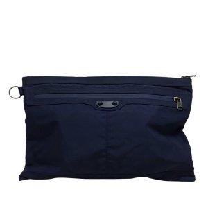 Balenciaga Borsa clutch blu Nylon