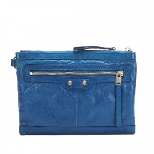 Balenciaga Clutch blue leather