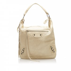 Balenciaga Shoulder Bag beige leather