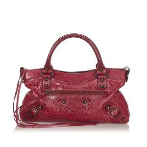 Balenciaga Satchel rood Leer