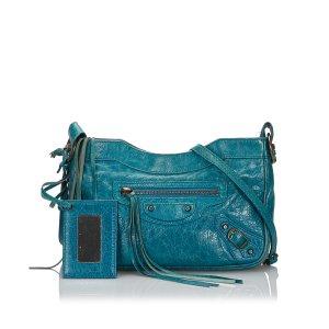 Balenciaga Crossbody bag green leather
