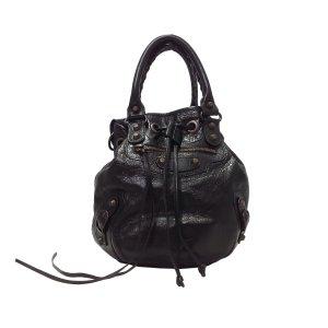 Balenciaga Bolsa de hombro negro Cuero