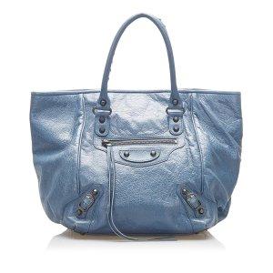 Balenciaga Shoulder Bag blue leather