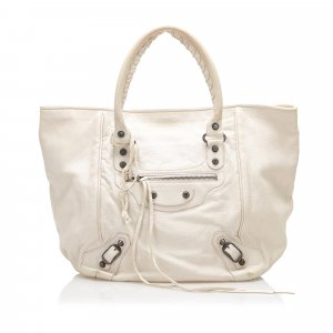Balenciaga Shoulder Bag white leather