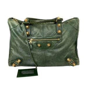 Balenciaga Travel Bag green leather