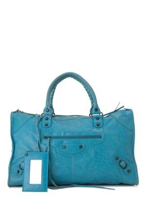 Balenciaga Sac à main bleu cuir