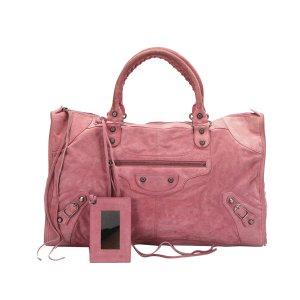 Balenciaga Handbag pink suede