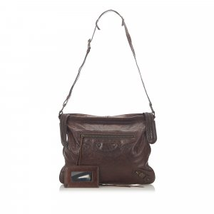 Balenciaga Crossbody bag dark brown leather