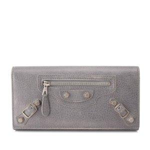 Balenciaga Wallet light grey leather