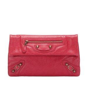 Balenciaga Clutch red leather