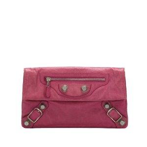 Balenciaga Clutch pink leather