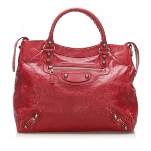 Balenciaga Satchel red leather