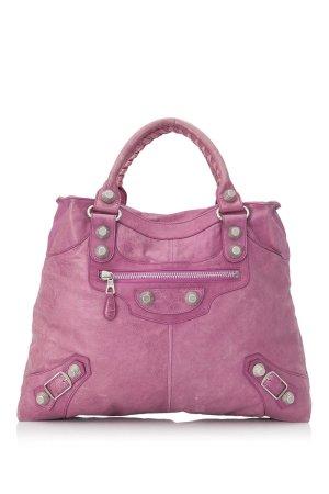 Balenciaga Sac à main rosé cuir
