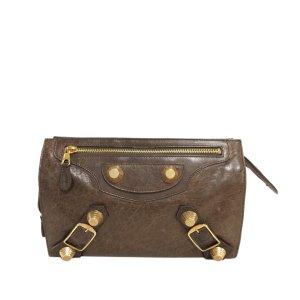Balenciaga Borsa clutch marrone Pelle