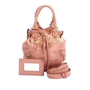 Balenciaga Shoulder Bag pink leather